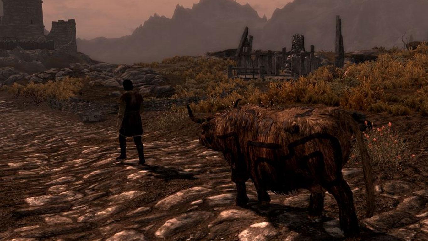 Фермер і розмальована корова? У Скайримі своя атмосфера…