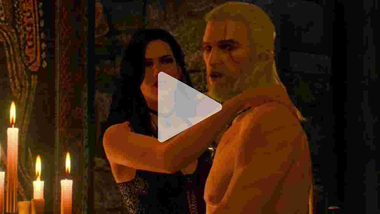 The Witcher 3 Wild Hunt Yennefer Sex Scene / Romance Scen