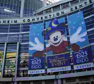 D23 Expo - Anaheim, California (August 18, 2011) The Anaheim Convention Center gets ready to host the D23 Expo 2011. (D23 EXPO 2011/HEATHER IKEI)