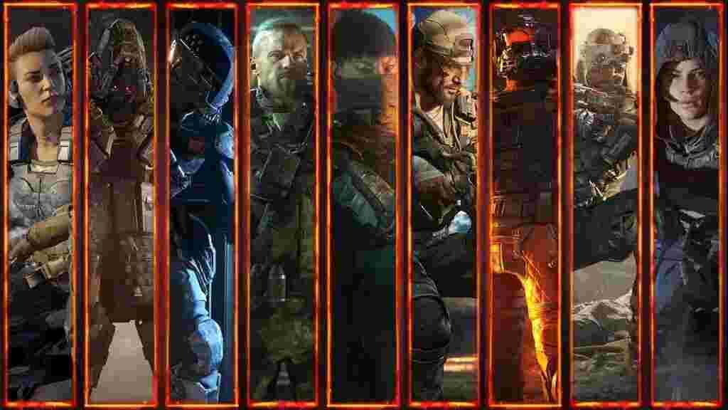 Спеціалісти (зліва направо) - Battery, Reaper, Spectre, Ruin, Seraph, Nomad, Firebreak, Prophet, Outbreak.
