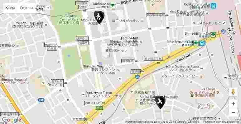 map Akira Kurosawa born and death
