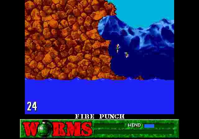Головне для черв'яків — не опинятись біля води, адже гра має чимало способів зіштовхнути вас туди