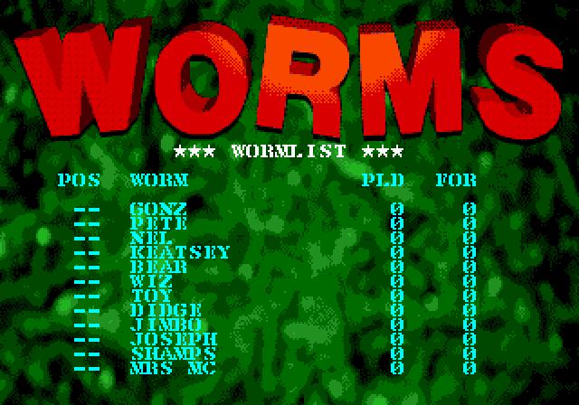 Допоки живлення увімкнено, гра зберігатиме статистику черв'яків