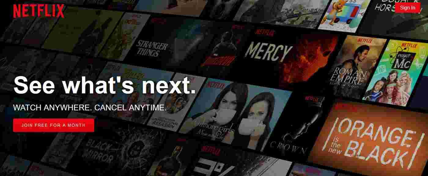 Netflix | сайти / сервіси для перегляду фільмів