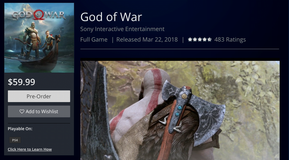 God of War 22 March Date