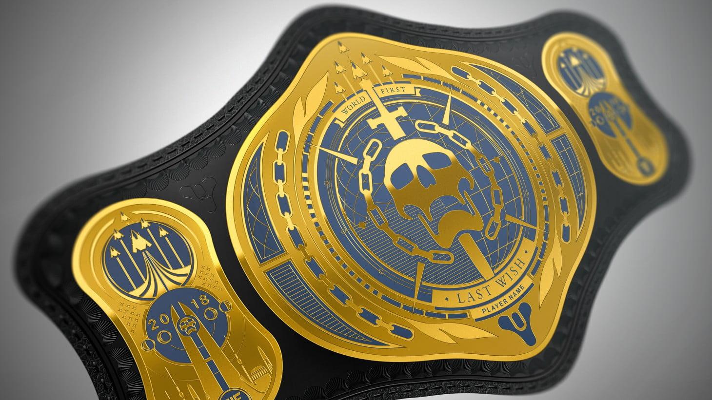 Destiny 2 Championship Wrestling Belt