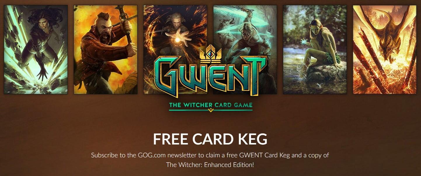 В GOG безкоштовно можна отримати The Witcher і карти для гри «Gwent»
