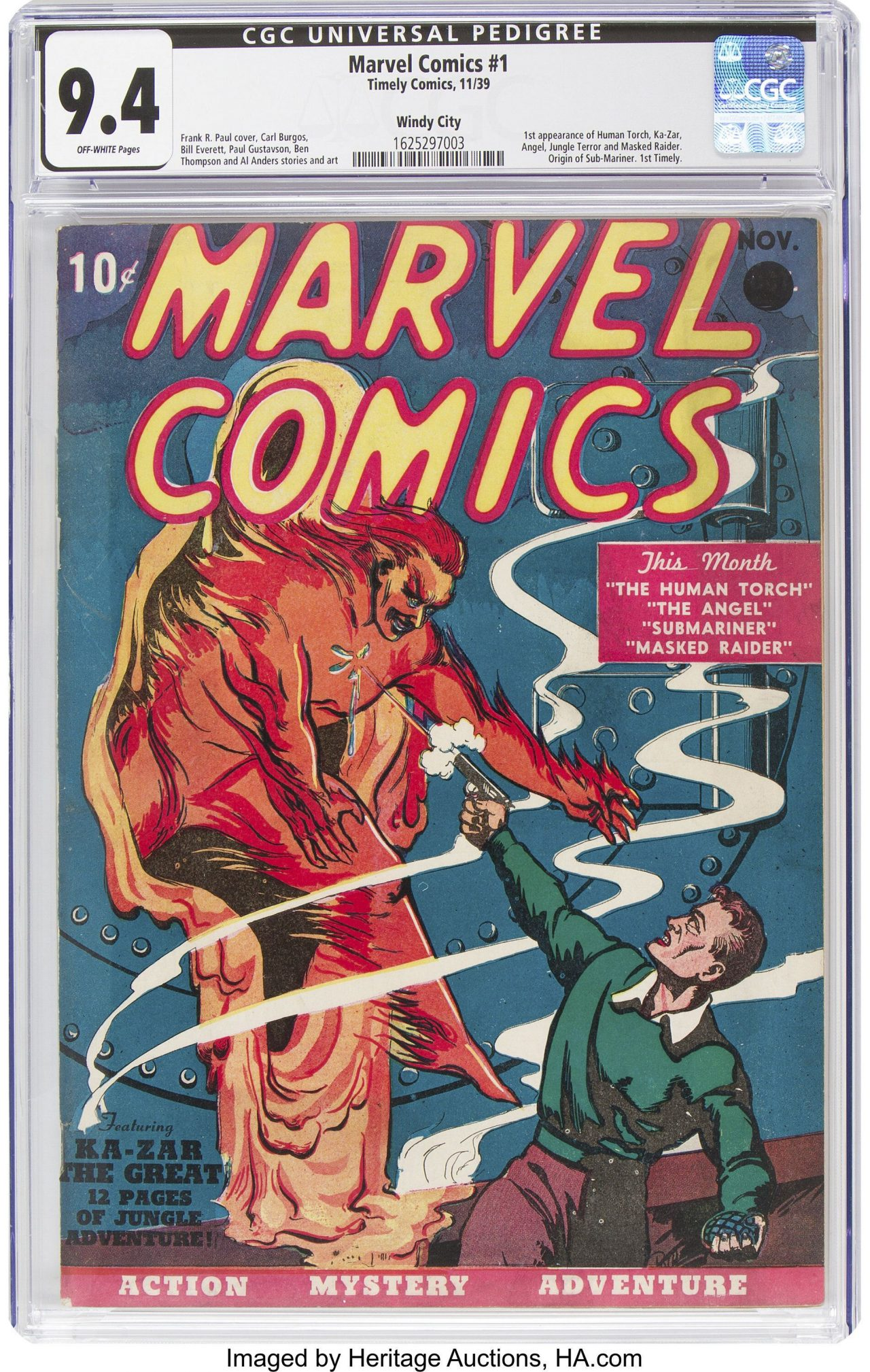 First Marvel Comics