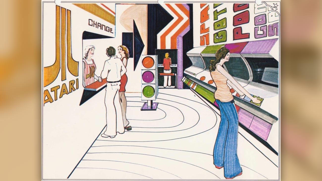 The Atari Leisure Time Game Center, advertisement